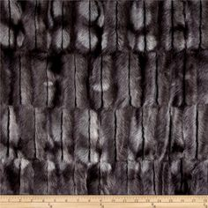 Luxury Faux Fur Embossed Beaver Steel from @fabricdotcom  From Shannon Fabrics, this soft faux fur fabric has a varying 15 to 18 mm lustrous pile. It's perfect for stuffed animals, costumes, faux fur jackets and vests, pillows, accessories, and throws.