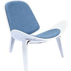 NyeKoncept Shell Chair   White/Dodger Blue