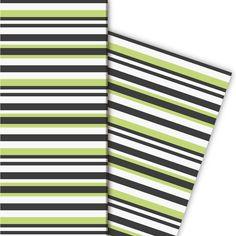 Trend Designer Streifen Geschenkpapier (4 Bögen 32 x 48cm), grün 1