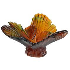 Daum Crystal - Palm Tree Magnum Bowl, Nielsens Gifts