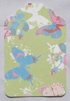 Labels Vlinders - 15 stuks - 8 x 5,5 cm - 260 gram karton (Label P2-3) - Cadeaulabel / Gift Tag