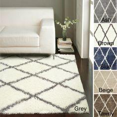 nuLOOM Moroccan Trellis Shag Rug (8' x 10') decor, idea, shag rug, diamond, trellis, trelli shag, area rug, rugs, moroccan trelli