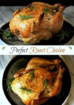 Perfect Roast Chicken. Thomas Keller's easy roast chicken is superb in taste and simplicity. Whole chicken - salted, peppered and roasted to perfection. Simply Sated
