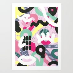 Buy Fragments Art Print by Gry Valand. Worldwide shipping available at Society6.com. Just one of millions of high quality products available.