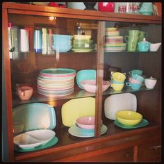 My collection of vintage TexasWare/melamine. Who doesn't love these awesome colors!