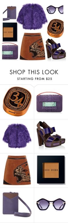 """""""Faux Fur"""" by bysc ❤ liked on Polyvore featuring Diptyque, Metalskin, Shrimps, Marni, Alberta Ferretti, Bobbi Brown Cosmetics, Furla, women's clothing, women and female"""