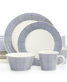 Casual Dinnerware Dinnerware Sets and Fine China - Macy's Casual Dinnerware, Dinnerware Sets, White Dinnerware, Outdoor Lounge Furniture, Blue Band, Furniture For Small Spaces, Royal Doulton, Wedgwood, China Porcelain