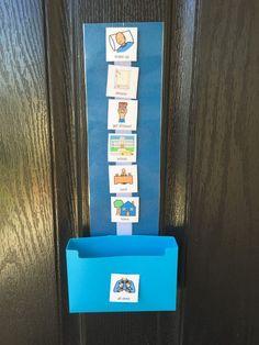 Visual schedule special needs routine schedule autism aspergers ABA PEC symbols boardmaker 36 symbols