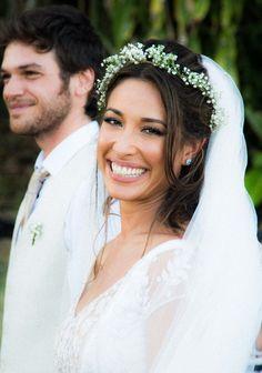 Inspire-se em famosos e seus casamentos, como da Gisele Itié.