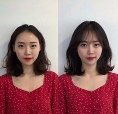Korean Haircut, Korean Short Hair, Shot Hair Styles, Curly Hair Styles, Cute Hairstyles, Hair Lengths, Bangs, Perm, Hair Cuts