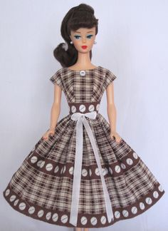 Chocolate Box Vintage Barbie Doll Dress Reproduction Repro Barbie Clothes | eBay