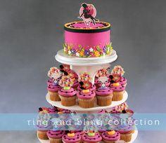 Wedding Cupcake Cake Stand Bridal Shower Ring Bling Pics Cake Topper Rings   eBay