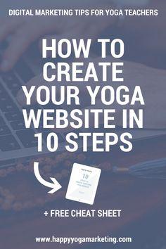 How To Create a Yoga Website In 10 Steps via @happyyogatravels