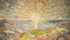 Le Soleil, Edvard Munch, Huile sur toile, 162 x 205 cm. Edvard Munch, Faber Castell, Monet, Le Cri Munch, Clone Wars, Popular Paintings, Pet Shop Boys, Rick Y, Art Graphique