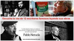 Escucha la voz de 12 famosos escritores latinoamericanos leyendo sus libros | Libros recomendados de todos los temas
