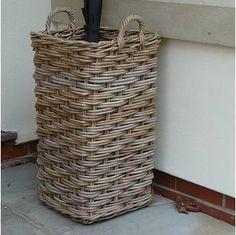 Rustic Umbrella Basket Stand
