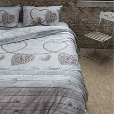 Bavlnené obliečky sivé so srdiečkami Comforters, Duvet Covers, Nova, Blanket, Rug, Blankets, Cover, Lap Quilts