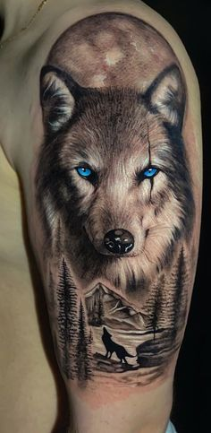 Wolf Face Tattoo, Wolf Tattoo Forearm, Wolf Tattoos Men, Tribal Wolf Tattoo, Cool Forearm Tattoos, Wolf Tattoo Design, Eagle Tattoos, Animal Tattoos, Tattoos For Guys