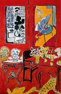 Henri Matisse - Toile de Paris du Grand Intérieur Rouge Huile, Musée national d Art Moderne