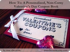 How to: a personalized, non-corny valentine's day coupon book