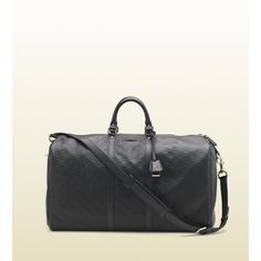 Gucci Large Guccissima Carry-On Duffle ($1,875) ❤ liked on Polyvore featuring men's fashion, men's bags, bags, gucci, harry, black, duffel bags, travel bags & luggage, mens leather carry on bags and mens duffle bags