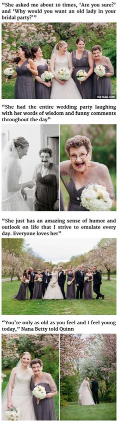 This bride invites her 89 year old grandma to … – # … – funny wedding Sweet Stories, Cute Stories, Beautiful Stories, Rasengan Vs Chidori, Funny Memes, Hilarious, Funny Videos, Human Kindness, Touching Stories