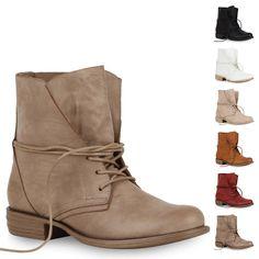 634011b2498e4a Damen Worker Boots Stiefeletten 71380 Lederoptik Gr. 36-41 für Herbst    Winter in