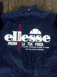 Ellesse gros logo spellout stade Italia prendi la tua forza coupe-vent manteau vintage