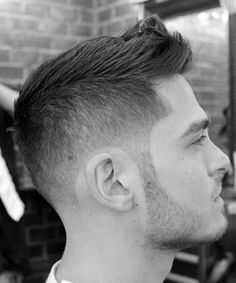 Short fohawk with fade.
