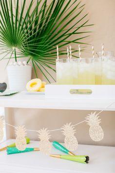 How to Make Pineapple Garland | The TomKat Studio