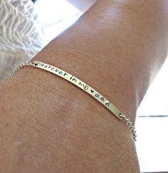 Silver Bar Bracelet, Silver Nameplate Bracelet, Engraved Bracelet, Personalized, Bracelet, Memorial Bracelet, Long Silver Bar Bracelet, GIFT