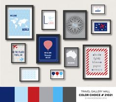 Gray navy nursery print childrens art baby boy nursery decor - 1000 Images About Travel Gallery Wall Color Choices On
