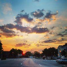 Downtown Bay Minette, AL at sunrise