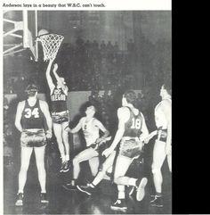 1940 Washington state - Oregon basketball game at Mac Court.  From the 1940 Oregana (University of Oregon yearbook).  www.CampusAttic.com