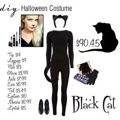 diy costume black cat by chrissykp on polyvore - Cat Costume Ideas Halloween