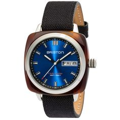 Clubmaster Sport Acetate - HMS tortoise shell blue sunray dial - Briston Watches