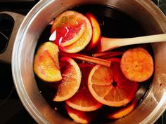 Vin Brulè, or mulled wine. Perfect for the cold weather -- warm, spiced, and aromatic! Here's a simple recipe: http://www.winepassitaly.it/index.php/en/taste/food-and-wine-pairing/item/1178-recipe-vin-brule-mulled-wine