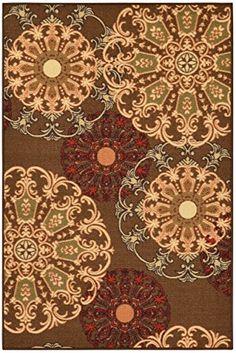 "Ottohome Collection Brown Contemporary Damask Design Area Rug With Non-Skid (Non-Slip) Rubber Backing (5'0""X6'6"" ) Ottomanson http://www.amazon.com/dp/B00MFYERPI/ref=cm_sw_r_pi_dp_aQAtub0GS5STQ"