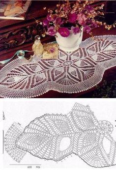 Captivating All About Crochet Ideas. Awe Inspiring All About Crochet Ideas. Filet Crochet, Crochet Doily Diagram, Crochet Doily Patterns, Thread Crochet, Irish Crochet, Crochet Motif, Crochet Designs, Crochet Table Runner, Crochet Tablecloth