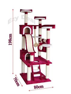 Brand New Giant 198cm Cat Tree Scratch Post Scratching Pole Tower Gym Toy * ED50 in Pet Supplies, Cats, Toys | eBay!