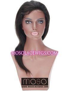 "14"" Yaki straight #1B Glueless Full Lace human hair wigs 100% indian remy hair, Yaki straight, Off Black - mosolacewigs.com  14"" Yaki straight #1B Glueless Full Lace human hair wigs 100% indian remy hair, Yaki straight, Off Black"
