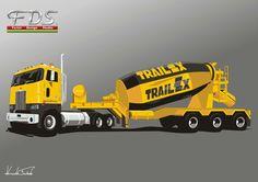 Peterbilt 362 & Trailex Concrete mix trailer