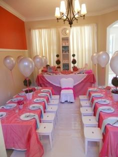 Tea party, and decorate each stool with child's name as a party favor!