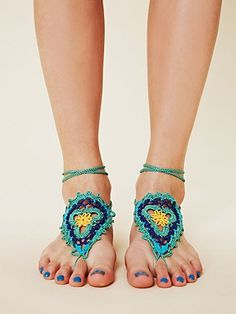 need this for summer :) --Crochet Sun Foot Tie