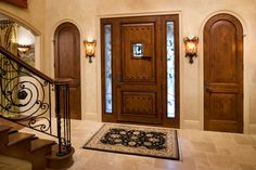 db-a1202-ft-2sl-gr Aurora fiberglass doors are made to look and feel like solid wood, without any of the maintenance. Craftsman style door shown is displayed with two full glass sidelights, and decorative glass.