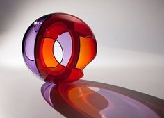 John Kiley Violet Lake, 2014 16.5 x 16 x 15 inches Blown, Cut and Polished glass Available