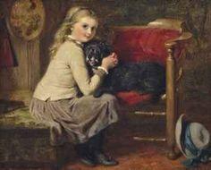 George Bernard O'Neill ~ Love Me, Love My Dog ~ (Irish: 1828-1917)