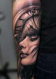 Portrait Tattoos - portrait tattoos in full color and black and white. portrait tattoos in many different shades and colors. Tattoo Girls, Arm Tattoos For Guys, Girl Tattoos, Amazing 3d Tattoos, Beautiful Tattoos, Best Sleeve Tattoos, Tattoo Sleeve Designs, Tattoo Sleeves, Tattoos Arm Mann