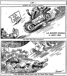 [Sept. 21, 1916] Editorial Cartoon: If the war had not happened ─ Chicago…