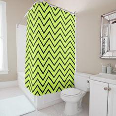 Black Chevron Shower Curtain - shower gifts diy customize creative